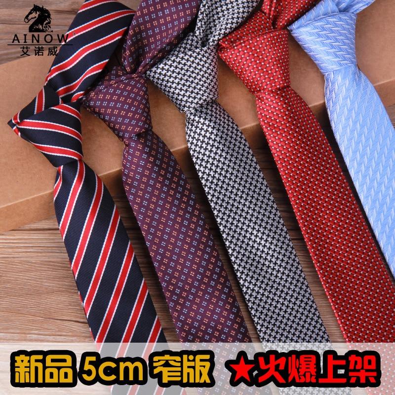10 Style Brand Polyester Mens Ties Neckties 5cm 2015 Jacquard Slim Ties Formal Social Event Lot