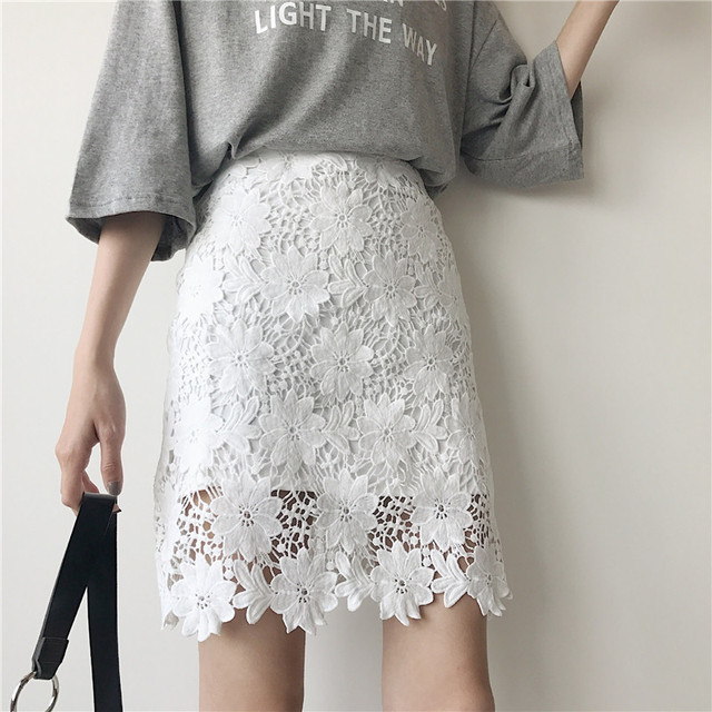 White Mini Pencil Skirt
