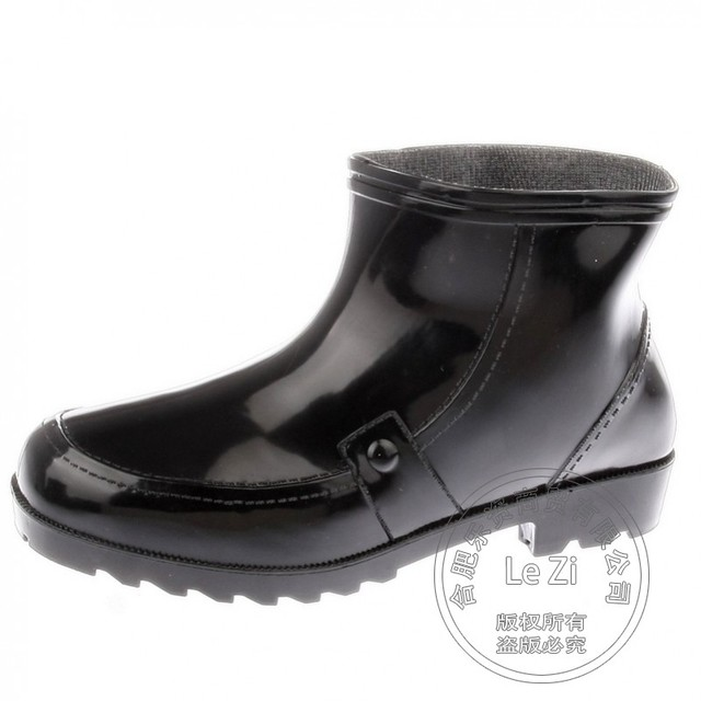 Vadear Homens Suburbanos Inverno Sapatos Único Chuva Galochas Quatro Estações de Trabalho Trabalho Botas Canister Desgaste Brilhante Sapatinho Tornozelo Pantshoes