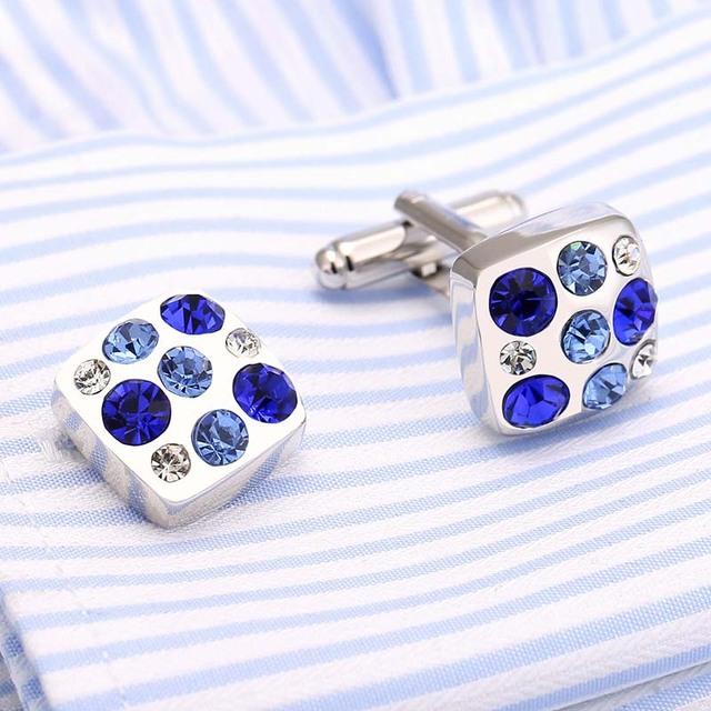 Vagula Cufflinks Brass Cuff Links French Shirt Cuffs Gemelos Button Collar Studs 178