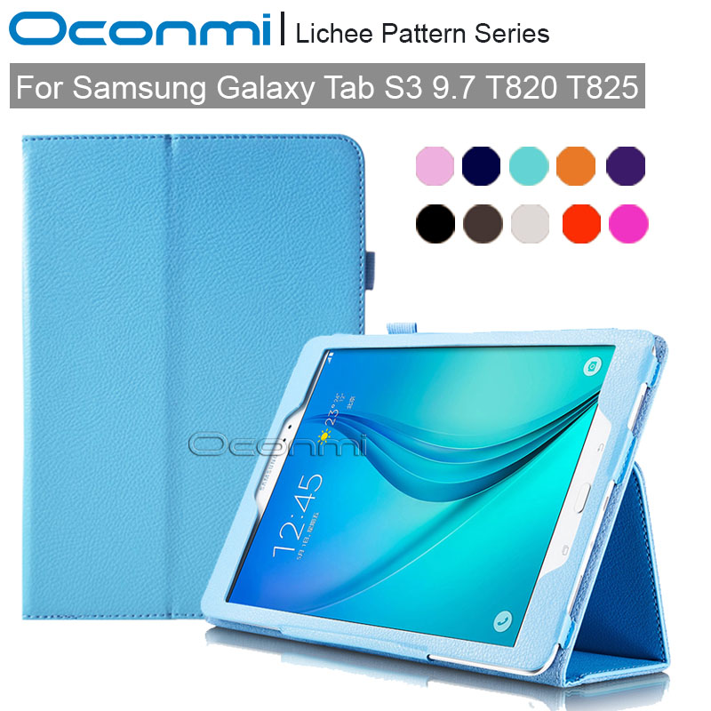 Premium PU leather Smart case for Samsung Galaxy Tab S3 9.7 slim magnet cover for Samsung Tab S3 9.7 SM-T820 SM-T825 case new luxury pu leather case for samsung galaxy tab s3 9 7 t820 t825 flip stand cover tablet case for samsung galaxy tab s3 t820