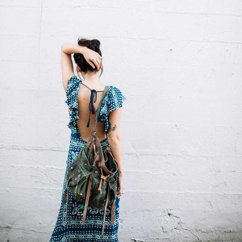 Boho zainspirowany 2017 letnie sukienki kwiatowy print cotton backless długi maxi dress hippie chic ruffles rękawem kobiety sexy vestidos 12