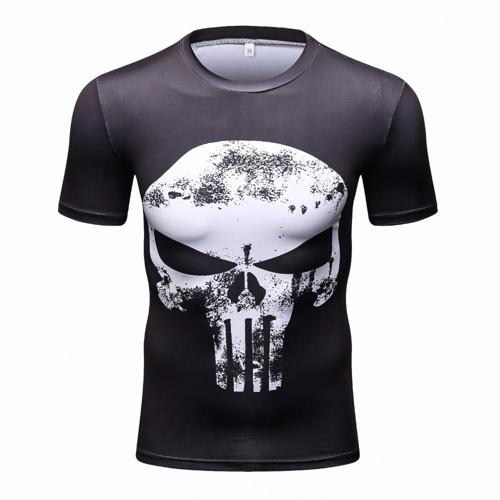 Camisetas de compresión de alta calidad Superman / Batman / Moda / Hulk Capitán América g ym Hombres Fitness Camisetas Hombres Camisetas
