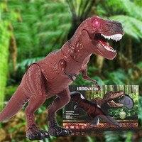 Abbyfrank Plástico Horror Tricky Vocal Caminando de Alta Simulación de Control Remoto Rc Juguetes Modelo de Dinosaurio Dinosaurio Animal de Juguete de Kid