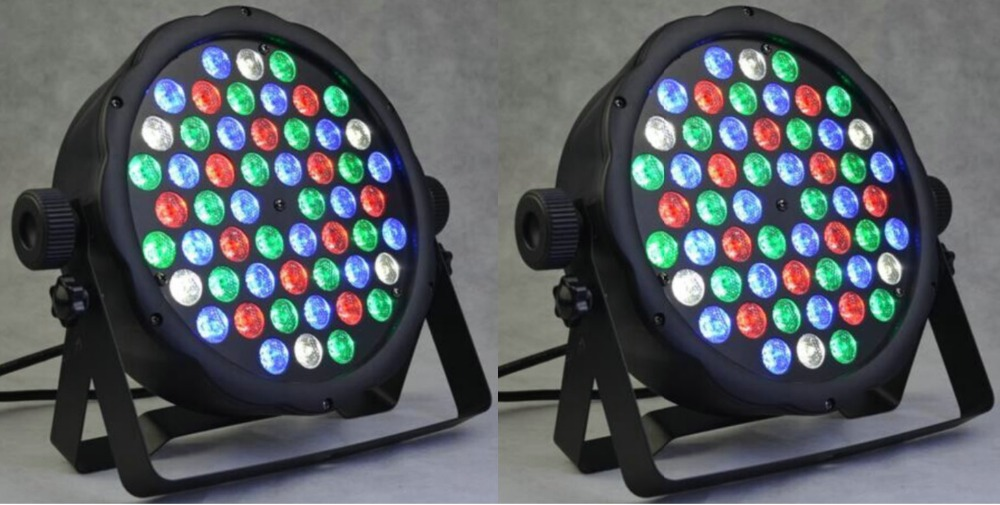 2 X New 54X3W 160W RGBW light DJ dance party stage lighting par64 discofox dance party 2 cd