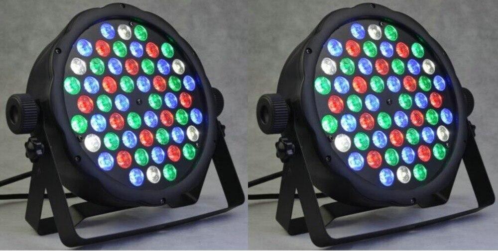 2 x new 54x3 w 160 w rgbw luz dance party dj stage iluminacao par64