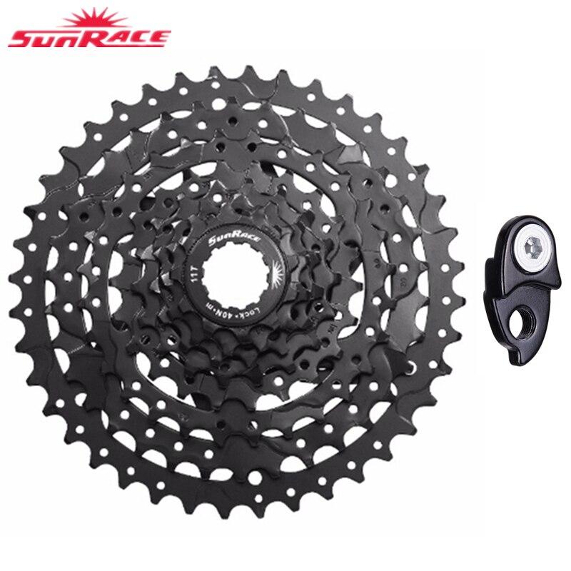 SunRace Bicycle Freewheel 9 Speed CSM990 Durable steel Mountain Bicycle Cassette Tool MTB Flywheel Bike Parts