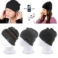 Смарт-Мужской Зима Теплая Шапочка Hat со встроенным Беспроводным Bluetooth Наушники Динамик Mic Цветов