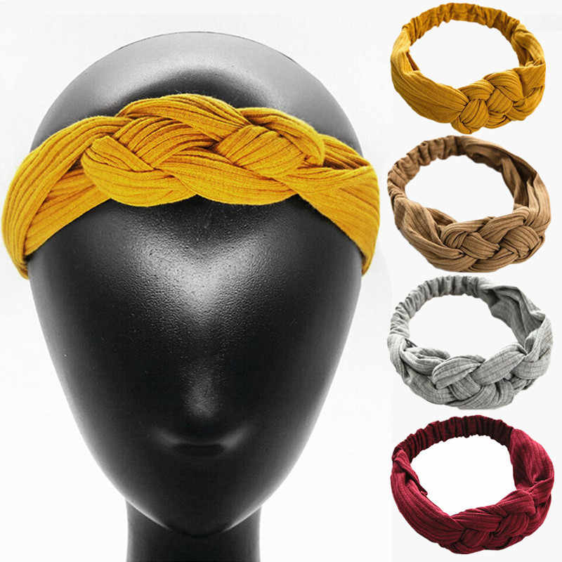 Women Girls Hair Fashion Knot Headband Turban Headwrap Braid Hairband Twist Suede Elastic Head Band Bandage Hair Accessories