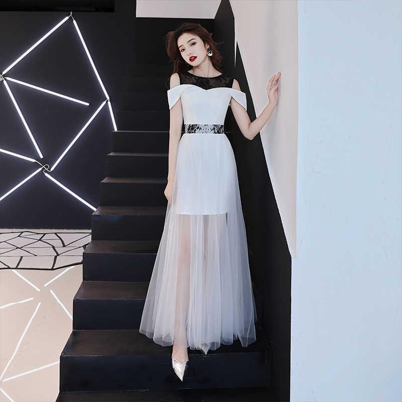 Белые вечерние наряды длинные 2019 офисные вечерние платья знаменитостей платье Русалка Формальное вечернее платье Ol вечернее платье TS1129