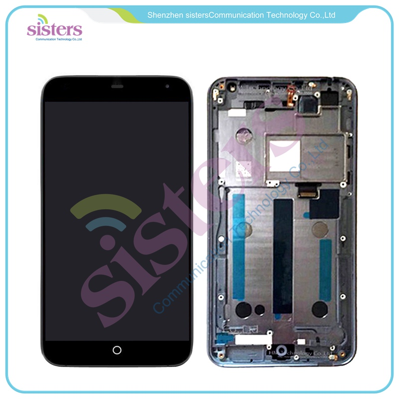 все цены на  Wholesale Black / White LCD Display Touch Screen Digitizer Full Assembly with Frame For Meizu MX4 MX 4  онлайн