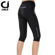 CHEJI  Outdoor Sports MTB Jogging Cycling Pants Women Long /3/4 Road Bike Clothing Bicycle Tights