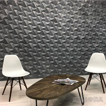 Molde de silicona para ladrillo de pared de hormigón ondulado, molde decorativo Individual de cemento para muebles