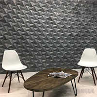 New rolling wave concrete wall brick silicone mold Individual decorative furniture cement mold