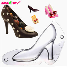 цены High Heel Shoes Chocolate Candy Mold Mould Mold Bundle 3D Molding Instructions Fondant Polycarbonate Cookie Chocolate Mold F