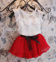 Spring Summer Girls Clothing Sets Summer Kids Clothes Toddler Girls Lace Sets All For Children Clothing