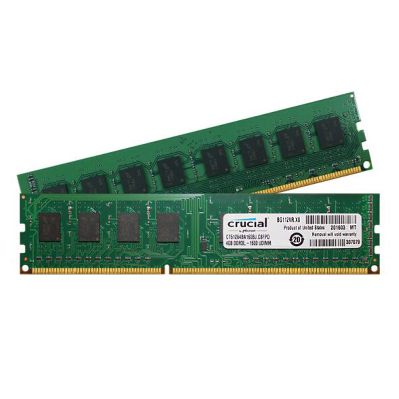 High Quality Crucial Memory Ram 1.35v DDR3L 1600Mhz 4GB for Desktop Memoria PC3L-12800 Compatible with DDR3 1333Mhz 1066Mhz