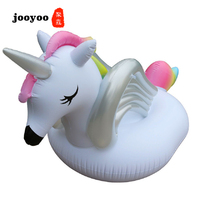 Inflatable Unicorn Flamingo Baby Float Pool Toys for Kids Rose Gold Swimming Ring Inflatable Swimming Pool Float Ring Kids