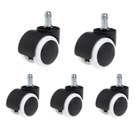 5 Pcs 2 Office Home Chair Swivel Casters Mute Wheel Universal Replacement L15