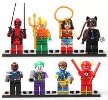 Super Heroes Nick Fury Batman Black widow Wonder woman Flash Deadpool SY178 minifigure Building Block