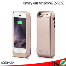 4200mAh Case Charging For iphone 5 5s 5c SE Extended Rechargeable Battery Charger Case Power Bank Cover For iphone 5 5s 5c SE