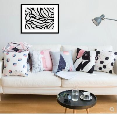 US $14.99 |unique black white pink Marble cushion cover sofa throw  pillowcase Flannel pillow case decorative pillow covers indoor-in Cushion  Cover ...