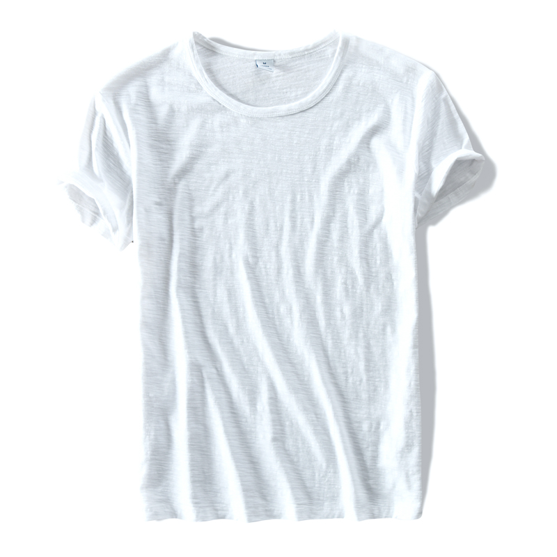 New style Clothing brand T Shirt Men Cotton Short Sleeve Summer Slim Men Tops Tees white t Shirts mens Solid TShirt Mens Camisa