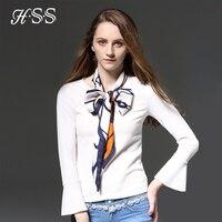 HSS Brillare Il Più Nuovo Fahion Donne Sciarpa di Stile Striscia Piccole Sciarpe di Lusso Varietà Di Raso Sciarpa di Seta Decorativo