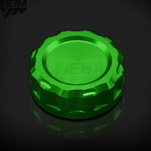 Motorcycle CNC Cylinder Rear Brake Fluid Reservoir Cover Cap FOR Kawasaki NINJA 600 ZX-6R ZX6R ZX 6R 2007-2008 NINJA 1000 ZX10R недорого