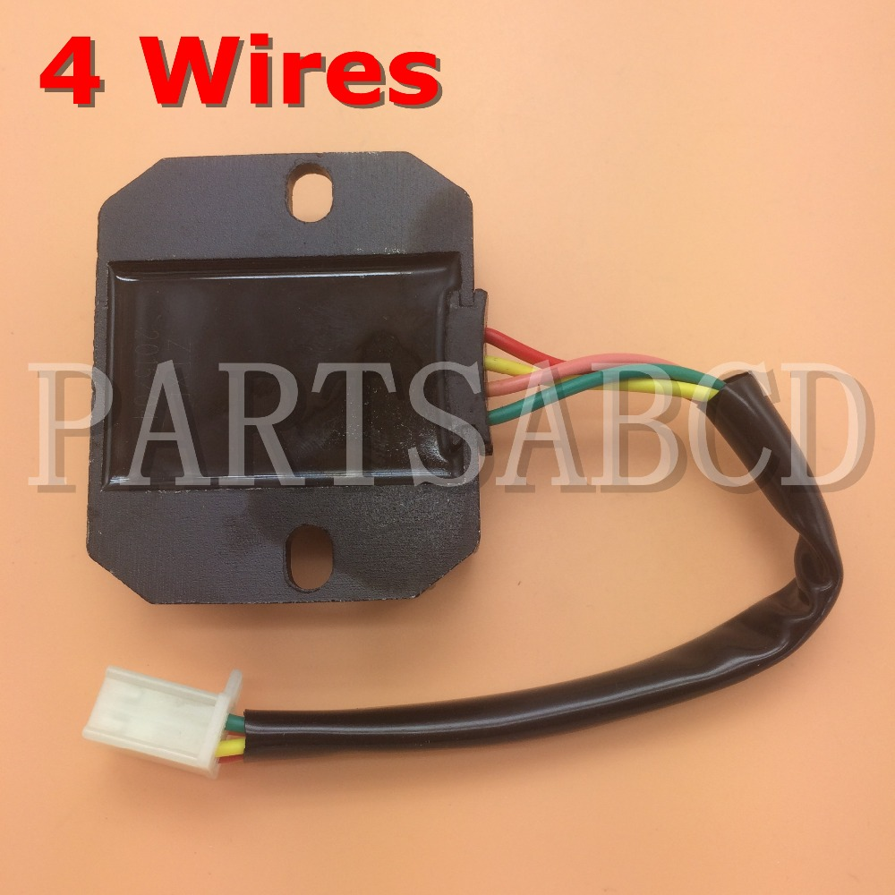 partsabcd 4 wire voltage regulator rectifier gy6 150 200 250cc atv rh aliexpress com