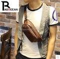 Nova Moda Masculina bolsa de Ombro Peito Pequeno de Áudio Pacote Peito Cruz Sacos para corpos saco de Viagem Ocasional Saco Do Telefone Móvel Brown & Black
