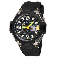 ผู้ชายนาฬิกามัลติฟังก์ชั่ดำน้ำนาฬิกากันน้ำคู่ควอตซ์ดิจิตอลLEDกีฬาทหารปลุกนาฬิกาreloges hombreดี