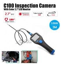 C100 Dia 3.9mm 2.7″ Endoscope Borescope Inspection 3M Snake Tube Camera Zoom Rotate