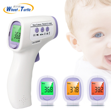 купить Mother Kids Baby Care Digital Baby Thermometer Non-contact Infrared Lcd Backlight Electronic Thermometer Kids Fever Monitor Tool по цене 1217.3 рублей