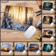 Mairuige Big Promotion Nature Landscape Blue Forest Trees MousePads Computer Gaming Mouse Pad Gamer Play Mats Mousepad 22X18CM