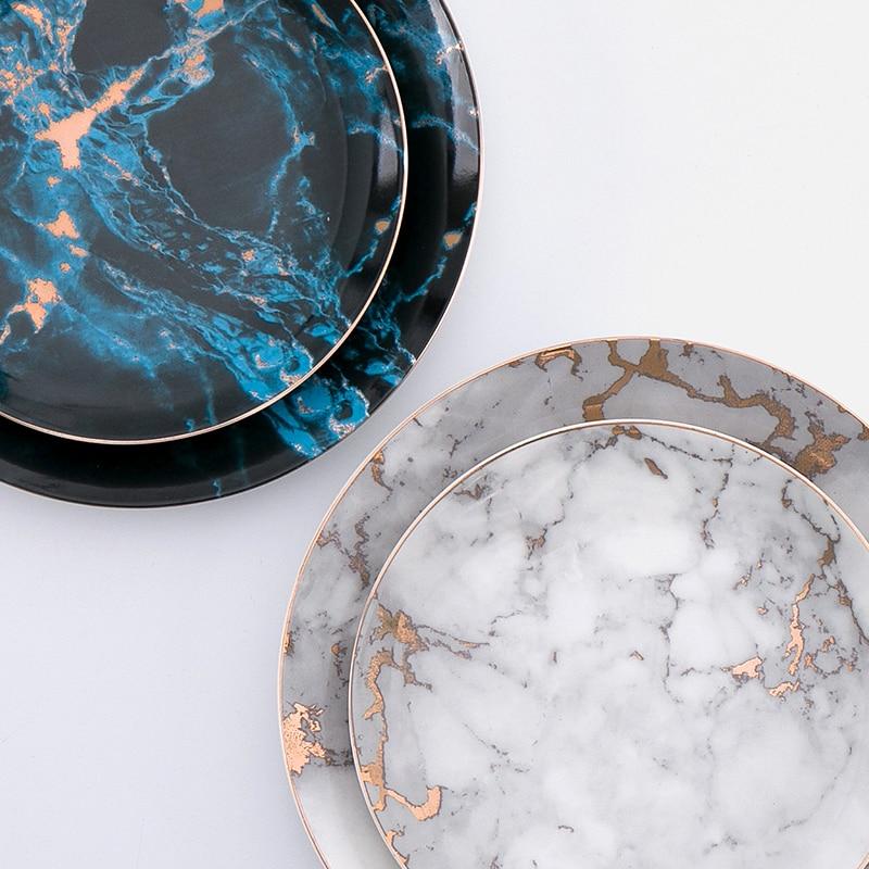 8 or 10 inch marble ceramic Plate dinner set dish porcelain dessert plate wholesale dinnerware cake ... & 8 or 10 inch marble ceramic Plate dinner set dish porcelain dessert ...