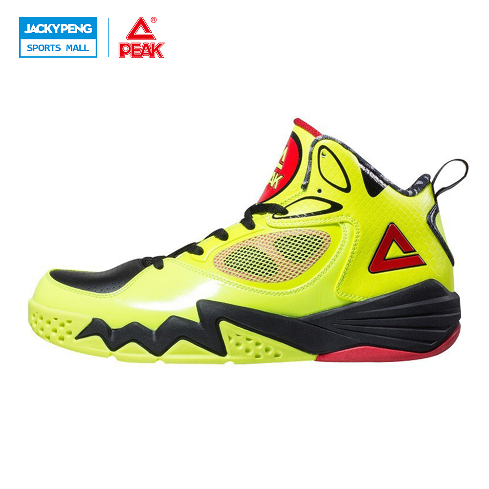 PEAK SPORT Monster II Men Basketball Shoes Breathable Training Competitions Sneakers FOOTHOLD Tech High-Top Athletic Ankle Boots peak sport star series george hill gh3 men basketball shoes athletic cushion 3 non marking tech sneakers eur 40 50