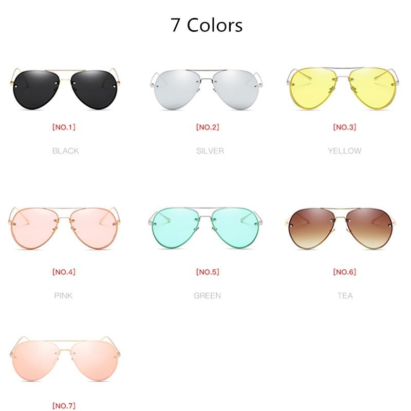 4c0a8b714b7 Luxury Pilot Sunglasses Women Brand Designer Driving Flat Top Pink Retro  Sun Glasses For Women Female Lady Sunglass Mirror 2019-in Sunglasses from  Apparel ...