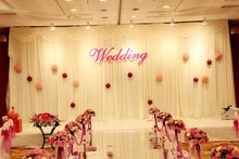 2016 new model Wedding Backdrop Wedding Curtain 3M/10ft*6M/20ft party decoration stage backdrop decor