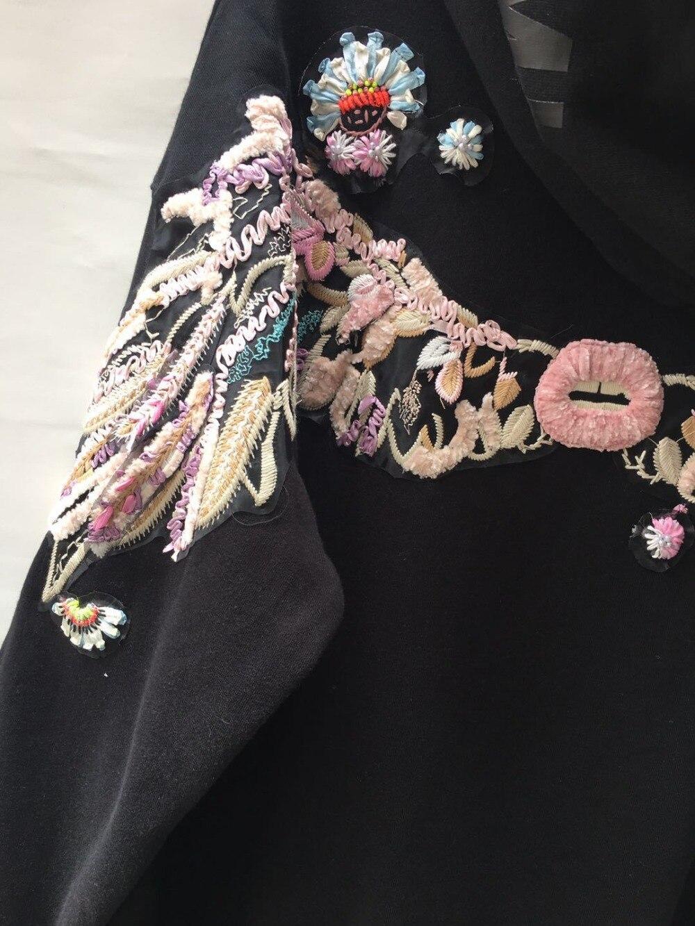 100% хлопок хорошее качество Вышивка Пуловеры Топы женские с длинным рукавом Повседневный стиль толстовки Весна Новые модные брендовые пальто gx1674 - 6