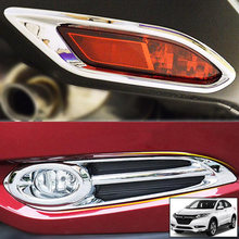 Chrome Light Cover For Honda HR-V/ Vezel 2016 - 2018 Silver Trim Set Fog Lamp Molding ABS Hot(China)