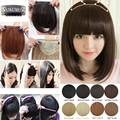 UK Real thick 30g Natural Bang False Hair Bangs black brown blonde auburn red Clip In on Bangs Synthetic Hair Fringe 11 Colors