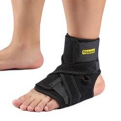 Yosoo Knöchelstütze Verstellbar Pad Schutz Elastische Bandage Knöchelbandage Schutz Verstauchungen Verletzungen Wrap Heel Pad für Basketball