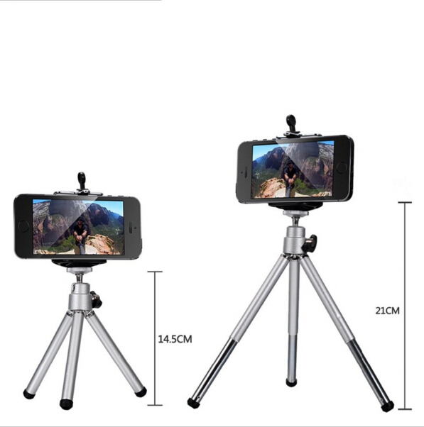 Universal 12X Zoom Clip Telephoto Manual Focus Telescope Camera Phone Lens with Tripod + Holder for iPhone Samsung HTC  12X3in1 4