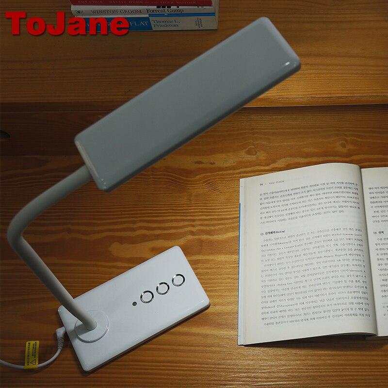 Tojane TG905 5 nivel de brillo y color LED lámpara de escritorio lámpara de mesa 8 W LED Luz de escritorio de lectura lámpara