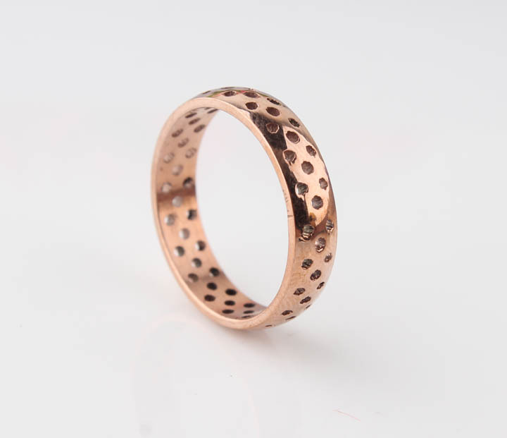 free shipping New 2014 Fashion Trendy Hollow Out Rose Gold 316l taitain titanium steel Rings for Men and Women