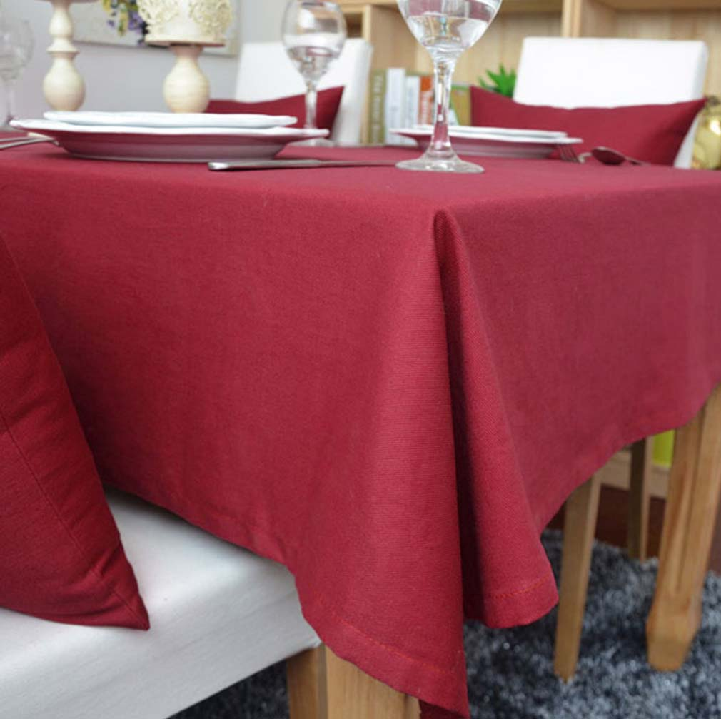 YO HOOM Kitchen Cotton Tablecloth Tablecover Coffee Table Cloth Table Cover Simple Red Color Optional in Tablecloths from Home Garden