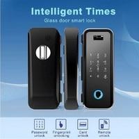 Biometric Smart Fingerprint Glass Door Lock Safety Electric Glass Door Fingerprint Lock with remote control