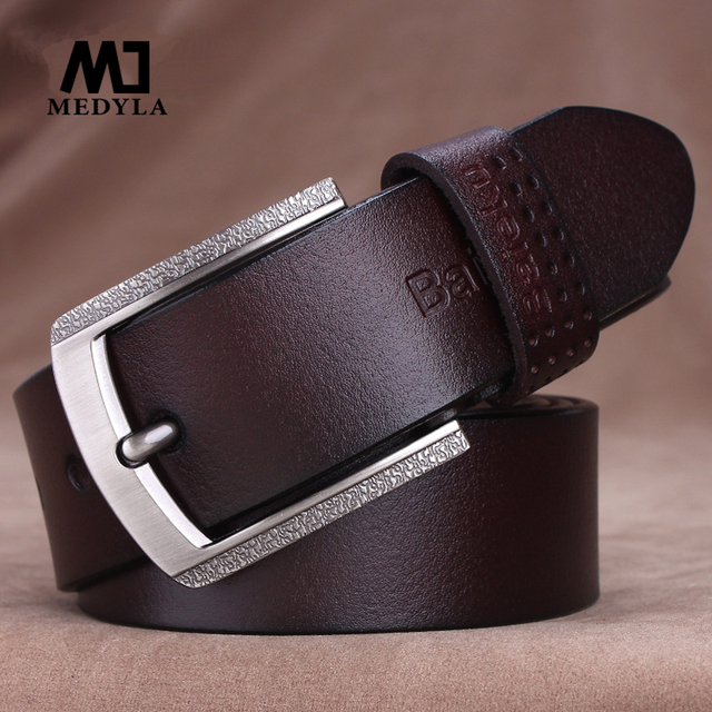 2017 mens cow genuine leather luxury strap male belts for men new fashion classice vintage pin buckle
