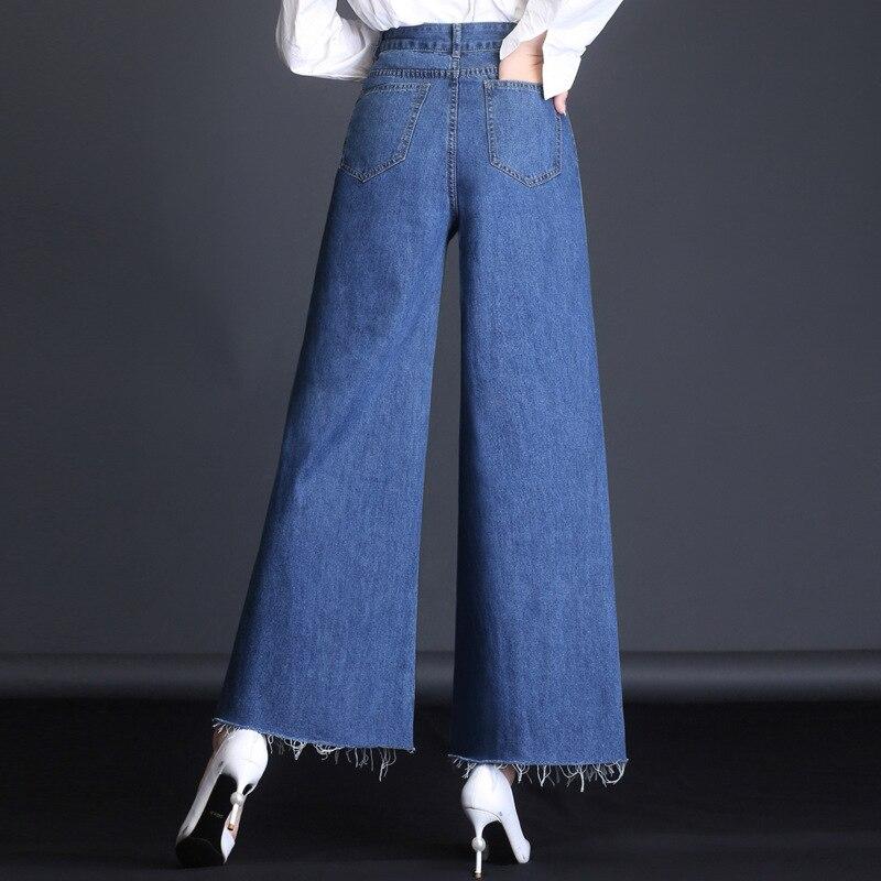 MAM high waisted s jeans stretch plus size 5xl blue black boyfriend woman denim pants female